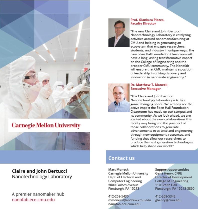 Contact - Claire & John Bertucci Nanotechnology Laboratory - College
